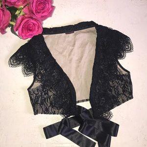 Anne Fontaine black lace Valero vest